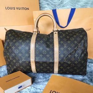 KEEPALL 50😍 Authentic Louis Vuitton Boston Bag✅